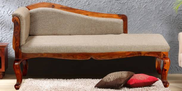Balaji Wooden Wooden Fabric Settee
