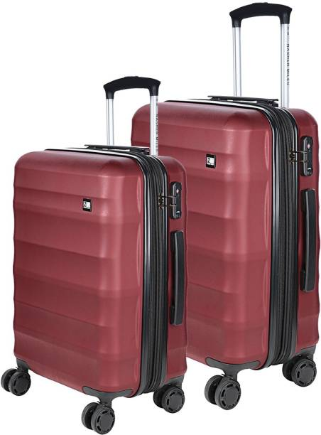 02e5f8fc7d1 Nasher Miles Rome Hard-Sided Luggage Set of 2 Maroon Trolley Travel Tourist