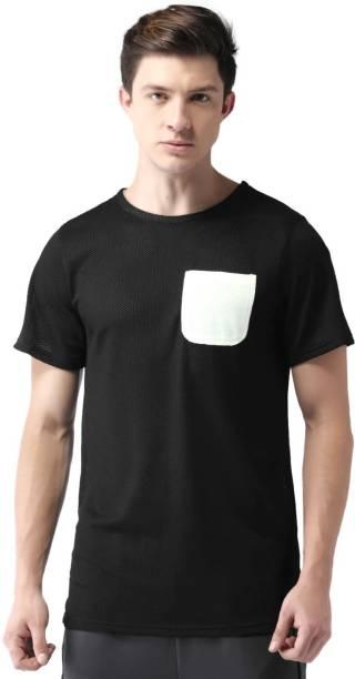 MAST & HARBOUR Solid Men Round or Crew Black T-Shirt