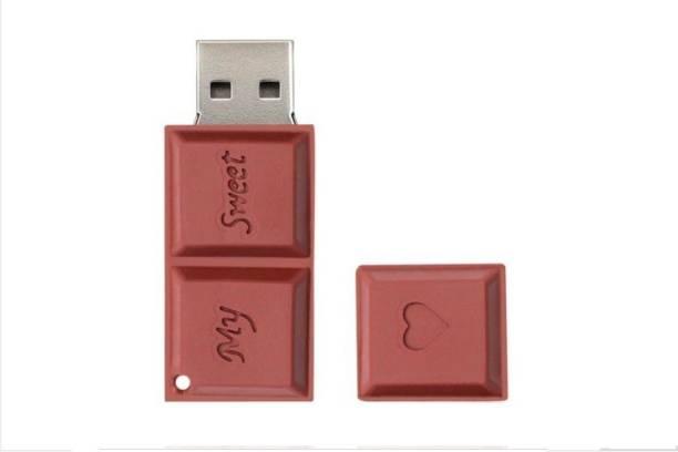 PANKREETI Chocolate Love Heart 32 GB Pen Drive