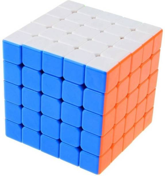 ToyVilla High Speed Stickerless 5x5 Colorful Magic Cube Puzzle Toy
