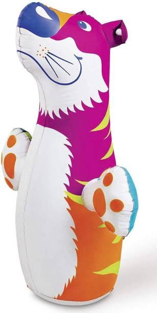 Revent Inflatable PVC Hit Me 3D BOP Bags (Multicolour) Inflatable Bouncer (Multicolor) Boxing