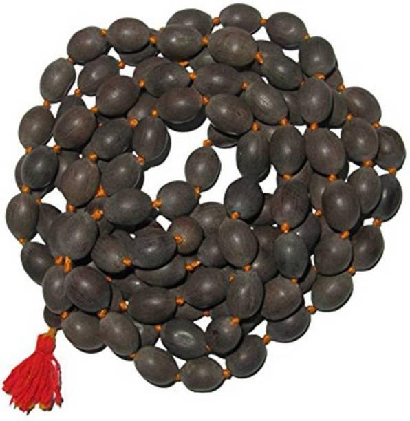 MORMUKUT Natural Kamalgatta Pooja Mala, Lakshmi Pooja Mala (Lotus Seeds), Kamal Gatta Mala for pooja Beads Wood Necklace Stoneware Yantra