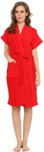 Pugnaa Bright Red XL Bath Robe