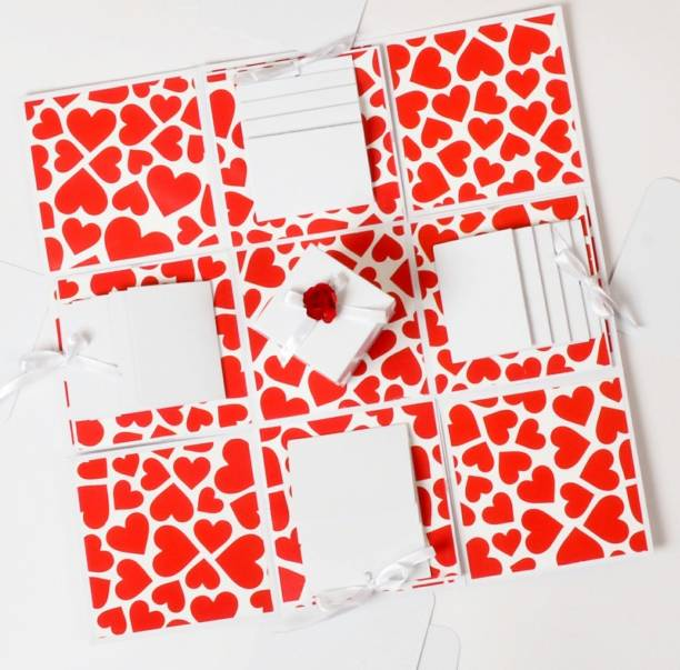 Crafted with passion Explosion gift box for anniversary birthday valentine's day Greeting Card