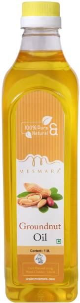 Mesmara Groundnut Oil Cold pressed 1 litre Groundnut Oil Plastic Bottle