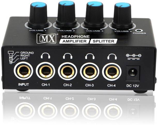 MX Ultra Compact 4 Four Output Stereo Channel Headphone Amplifier Portable Headphone Amplifier