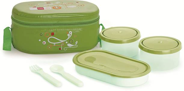 cello Full on Green 3 Containers Lunch Box