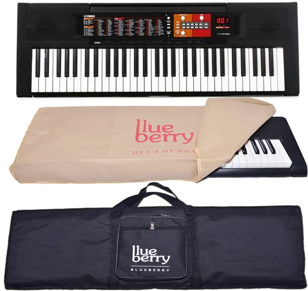 pretty nice 0bf26 eb859 Yamaha PSRF - 51 With Adapter and Blueberry Bag, Dust Cover Digital  Portable Keyboard