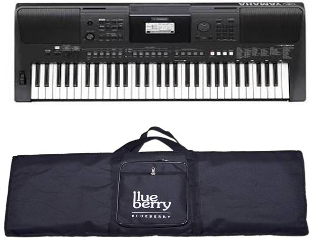 YAMAHA PSR E 463 With Adapter and Blueberry Bag Digital Portable Keyboard