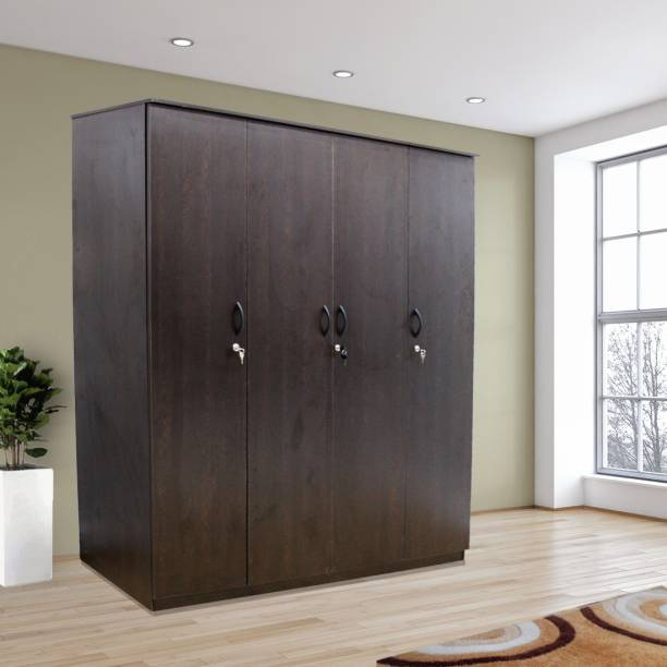 mobel furniture kf 6109 engineered wood 4 door wardrobe