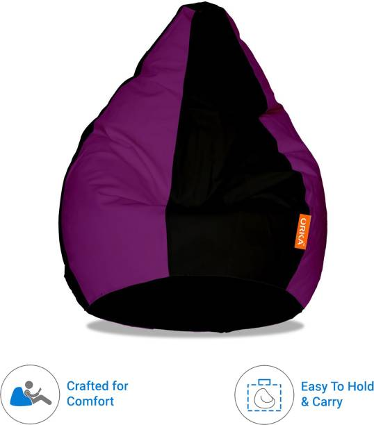 ORKA XXL Tear Drop Bean Bag Cover  (Without Beans)