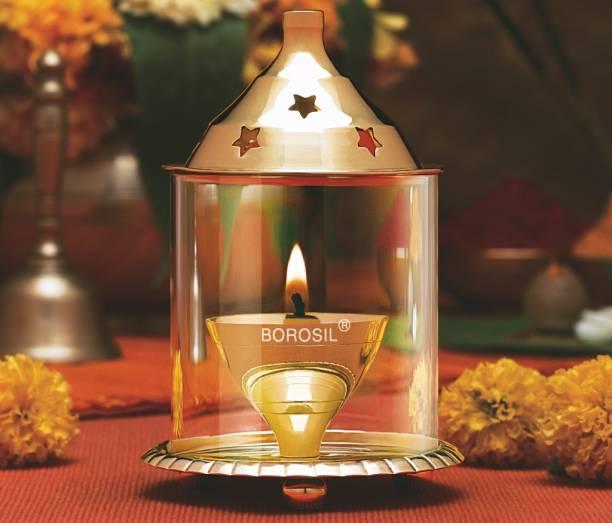 BOROSIL Akhand Diya Brass Table Diya