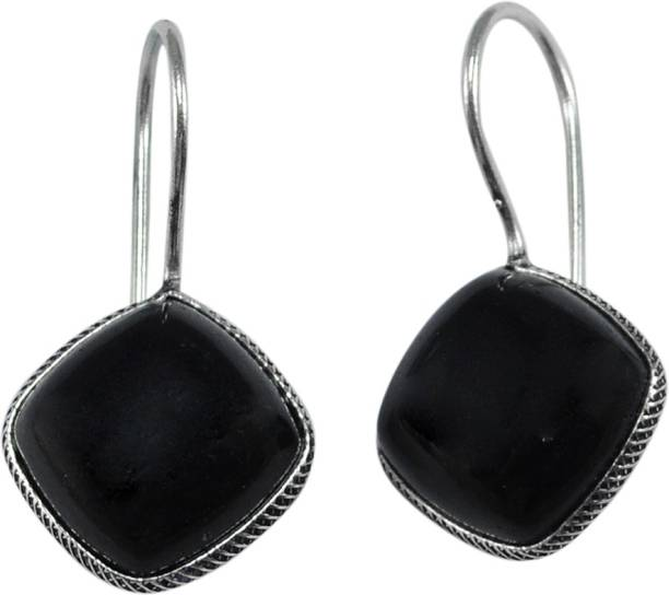 4ffd90182 Silvesto India Silvesto India Black Onyx Gemstone 925 Silver Plated Stud  Earring Jewelry PG-133354