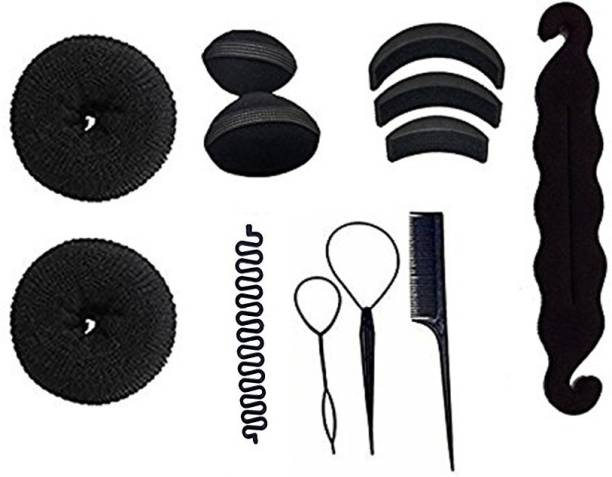 c089071214d5 fllik Hair Accessories Combo, Hair Donuts Different Sizes, Hair Puff, Juda  Maker &