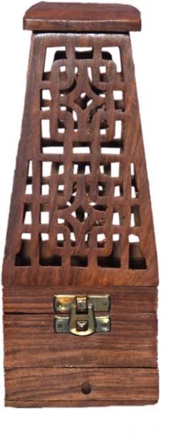 Vaah Dhoop Cone Burner Wooden Incense Holder