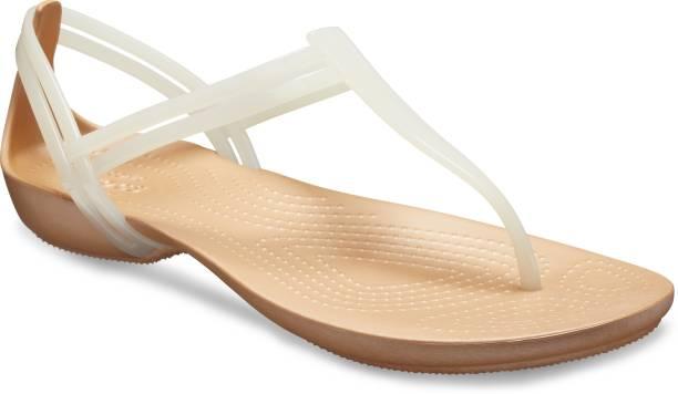CROCS (Isabella) Women White, Beige Flats