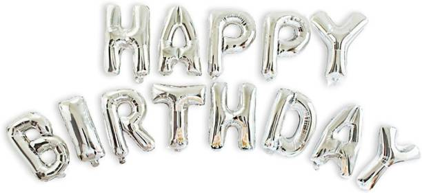 Smartcraft Solid Happy Birthday Letter Foil Balloon