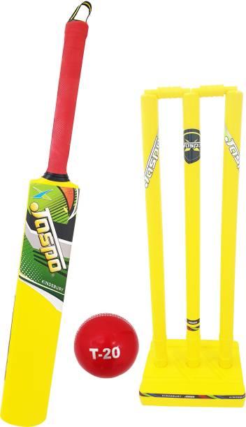 Jaspo Cricket Combo(Plastic Bat+ Stumps+Twind Ball) Cricket Kit