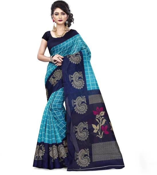 86feb574d7a OffersSpecial Price. Vimalnath Synthetics Checkered Fashion Kota Silk Saree