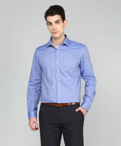 f4a2571b3e7 Arrow Men s Self Design Formal Blue Shirt