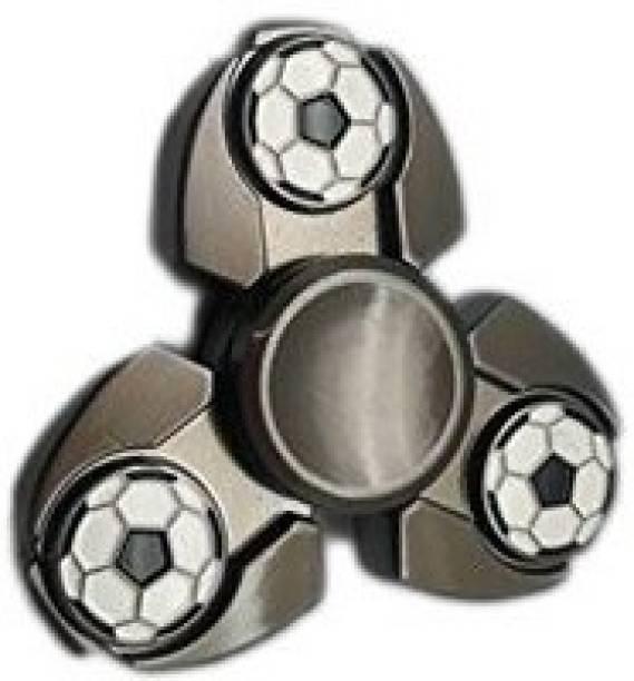 PREMSONS High Quality Metal Fidget Spinners Triangular Head Ultra Speed Spinner Toy Football Grey