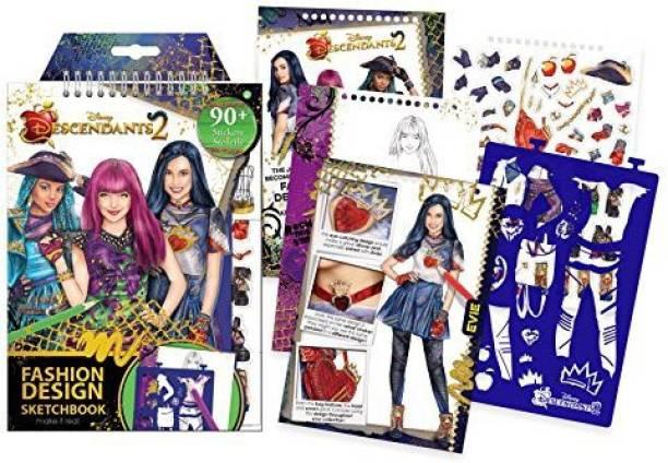 2fed3c92a90e Make It Real - Disney Descendants 2 Fashion Design Sketchbook. Disney  Inspired Fashion Design Coloring