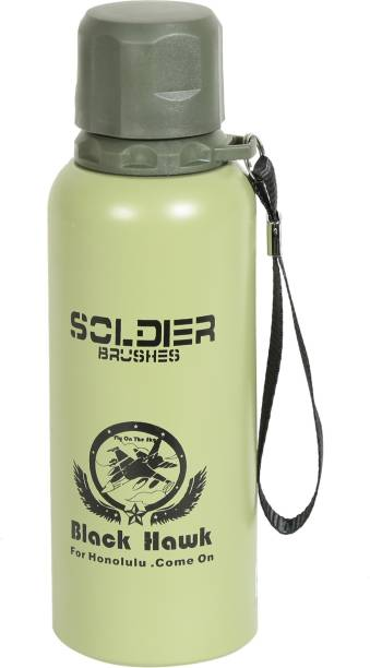 STYLE HOMEZ Double Wall Vacuum Insulated Stainless Steel Soldier Style Flask BPA Free 500 ml Flask