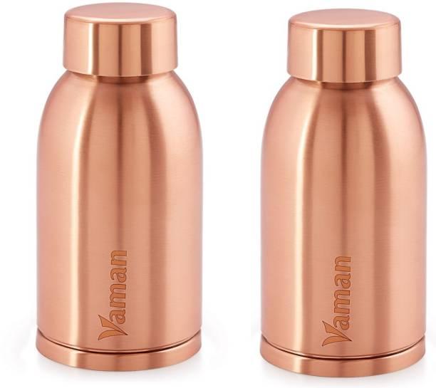 6dead2a3e4 Hazel Vaman Copper Water Bottle Leak Proof For Ayurvedic Health Benefit,  400ml, Set Of