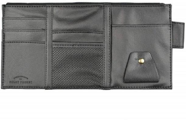 SYGA Leather Car Visor Organizer Sun Shade CD Holder Card Storage Pouch Bag  Multi-Functional 64b4f3cac14