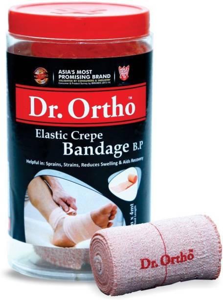 Dr. Ortho Crepe Bandage (10cm X 4mt) - For Wrist, Arm, Shoulder, Ankle, Calf Pain Crepe Bandage