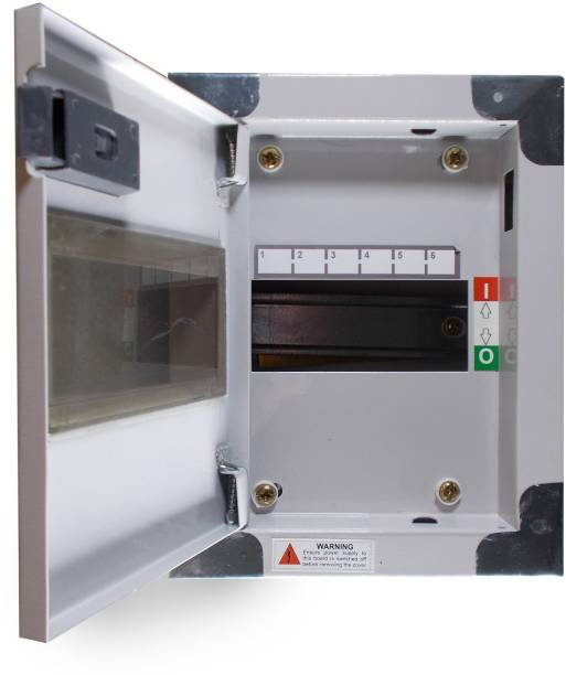 ALIVESMART Double Door 6 Way MCB BOX Distribution Board