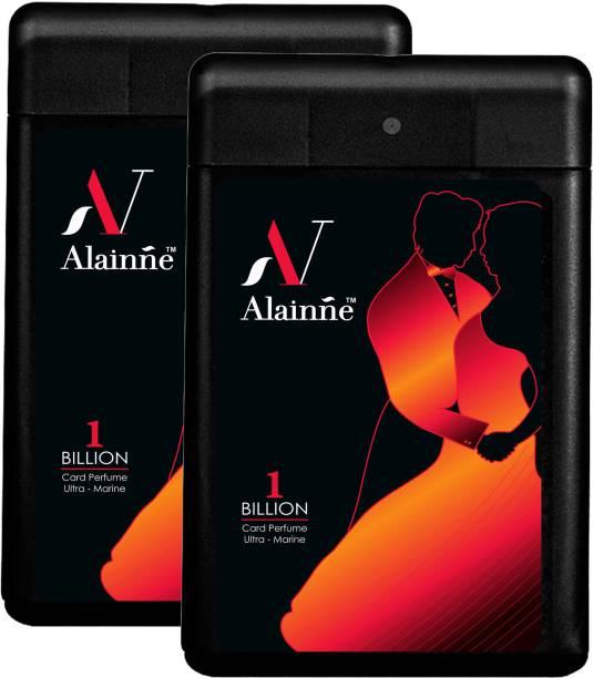 ALAINNE One Billion Ultra- Marine Pocket Perfume Twin Pack For Men(18 ML Each) Perfume  -  36 ml