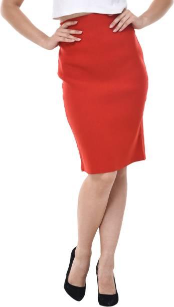 67b752d1f Mid Blue Denim Skirts - Buy Mid Blue Denim Skirts Online at Best ...