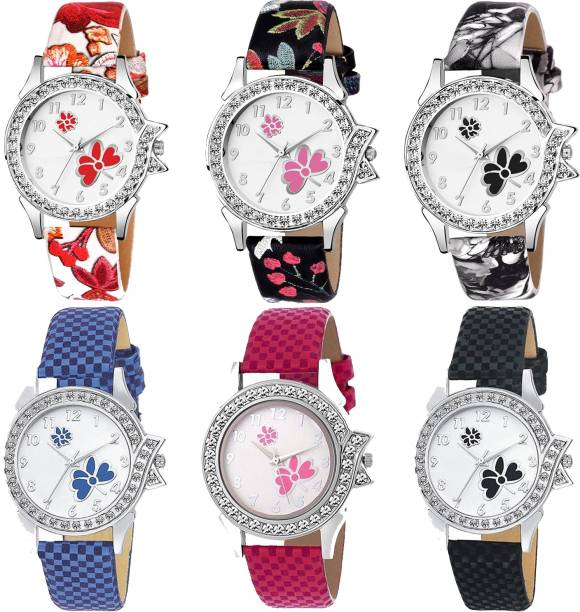 5800d0aa6 POCO New Stylish Artist Designer Multicolour Belt Combo Watch For Girls &  Women PC-101