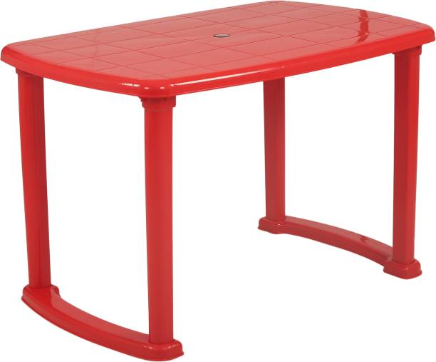 Supreme Arjun Dining Table, Red (4 Seater) Plastic Outdoor Table