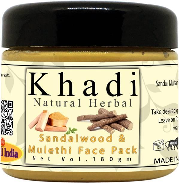 khadi natural herbal Sandalwood And Mulethi Face Mask For All Skin Type Pack 150 gm