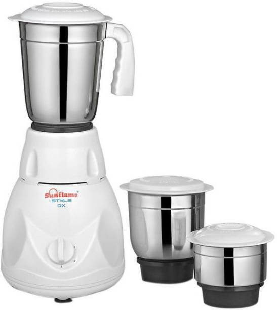 SUNFLAME STYLE DX 500 Mixer Grinder (3 Jars, White)