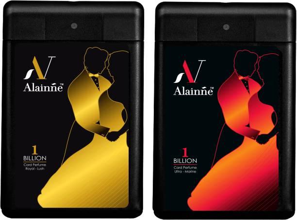 ALAINNE One Billion Ultra- Marine & Royal - Lush Pocket Perfume For Men Pack of 6(18ML Each) Perfume  -  108 ml