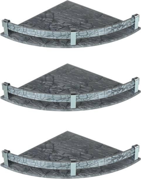 Spiry 9x9 Inch Corner Shelf / Bathroom Shelf / Storage Shelf / Perfume Rack / Kitchen Rack Acrylic Wall Shelf