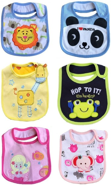 Kids Bib Bundle Bandana Printed Multicoloured Toddler Feeding Eating Supplies 6A