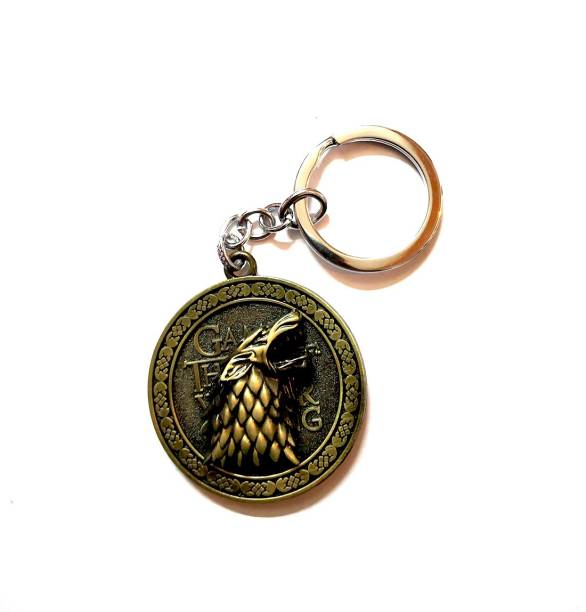 NeoTask Stark Winter is Coming Game of Thrones Rotating Metal Key Chain