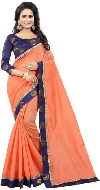 72342eb6a Plain Sarees Online - Buy Plain Simple Sarees With Designer Blouse ...