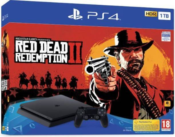 SONY PlayStation 4 (PS4) Slim 1 TB with Red Dead Redemption 2