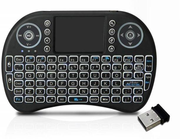 af4950ccca8 spincart Backlit Mini Wireless Multimedia Keyboard with Touchpad Mouse,3  Color RGB Backlight (Fn