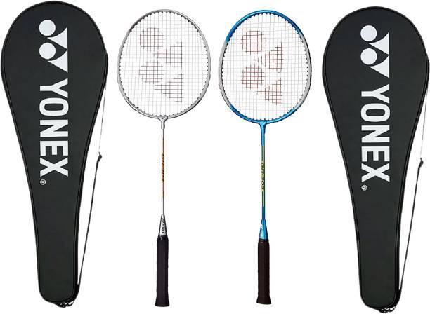 YONEX GR-303 Silver, Blue Strung Badminton Racquet