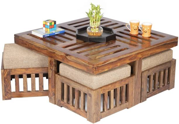 Ikiriya CTSW0317-2-JBE Solid Wood Coffee Table