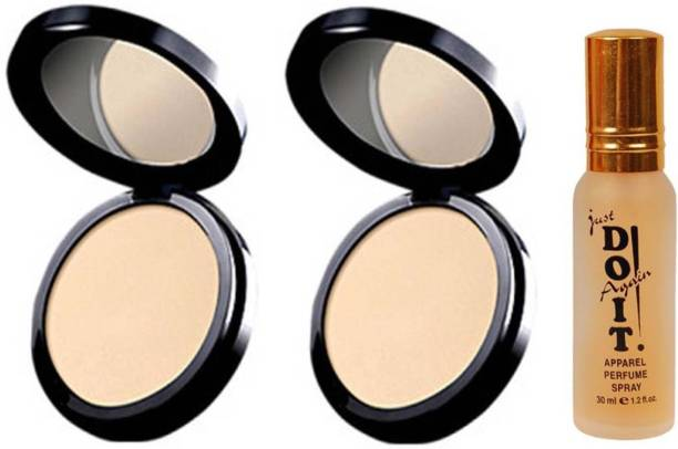 Oriflame Sweden two PURE COLOUR PRESSED POWDER Compact light 20 g with one do it perfume 30 ml