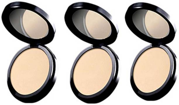 Oriflame Sweden three PURE COLOUR PRESSED POWDER Compact 20g Compact