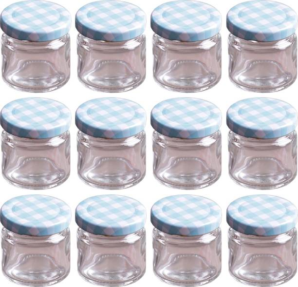 FAVOLA Essentials Mini Glass Jars with Black Lid  - 30 ml Glass Grocery Container